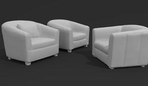 armchair visualization 3D model