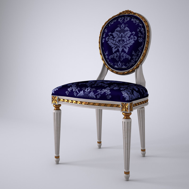 3d model of french louis xvi oval
