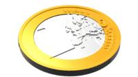 3d eurocoin coin model