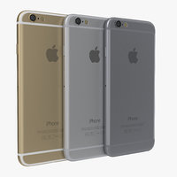 iphone 6 set modeled 3d 3ds