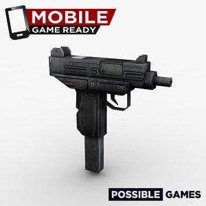 3d uzi ready mobile model