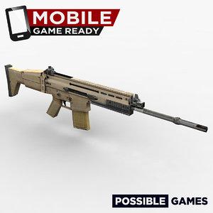 rifle ready mobile 3d obj