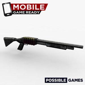 shotgun ready mobile 3d fbx