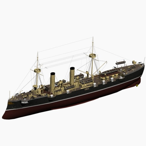 3ds max irene cruiser imperial german