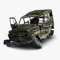 UAZ-3151 Military Burnt
