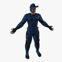 human electrician man 3ds