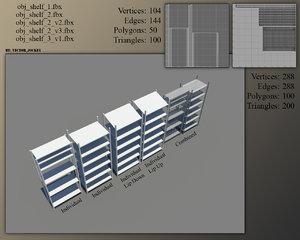 3d model shelves games