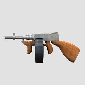 cartoon gun 3d model