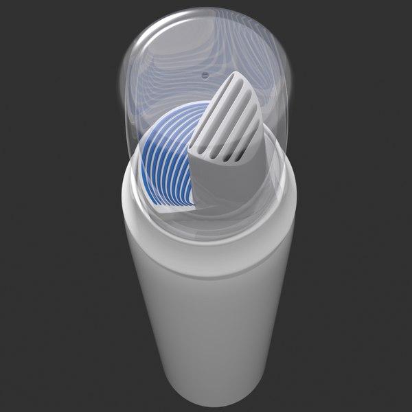 3d model foam bottle