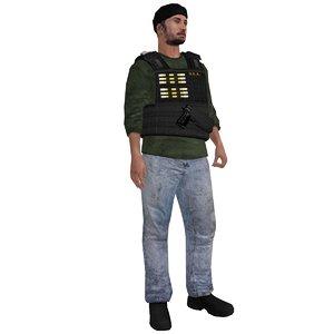 3d max rigged dea agent