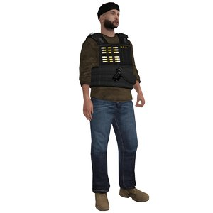 rigged dea agent 4 3d ma