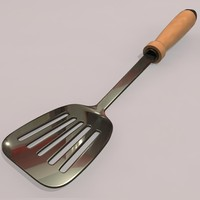 kitchen tools spatula 3d model