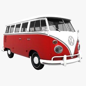 transporter t1 hippie 3d max
