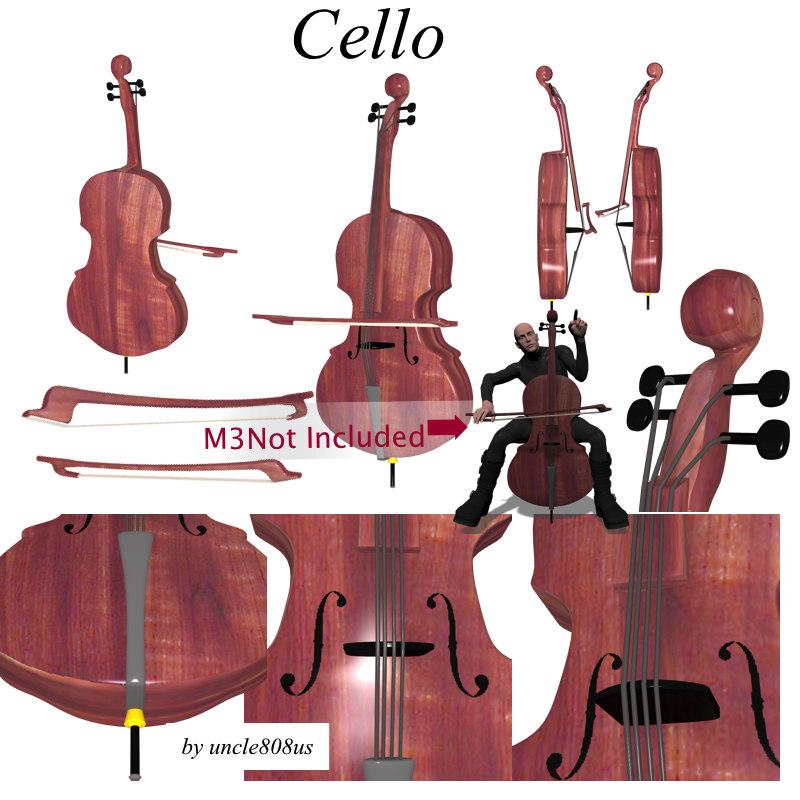 cello 3d model