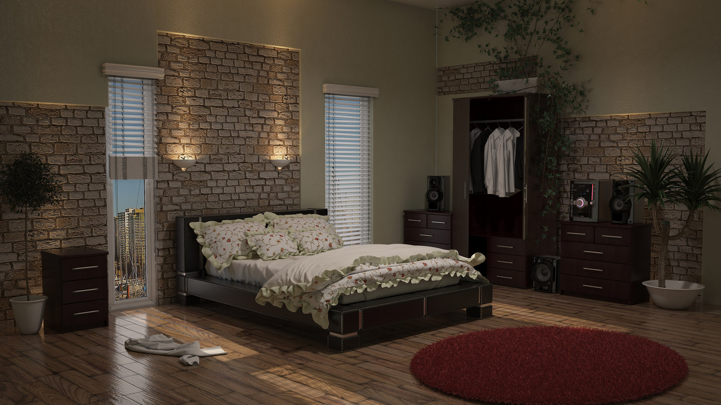 double leather bed floral max