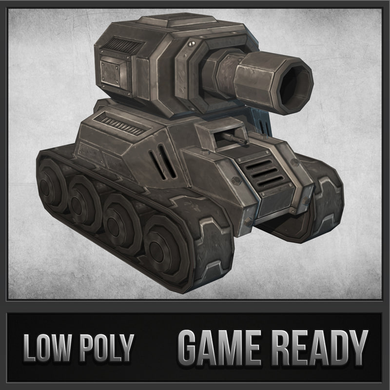 toon tank 02 3d 3ds