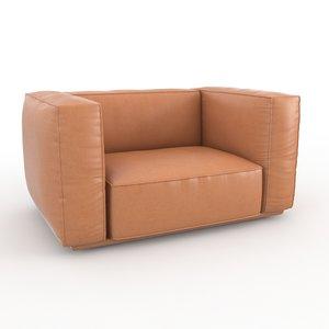 3d model of marechiaro arflex armchair