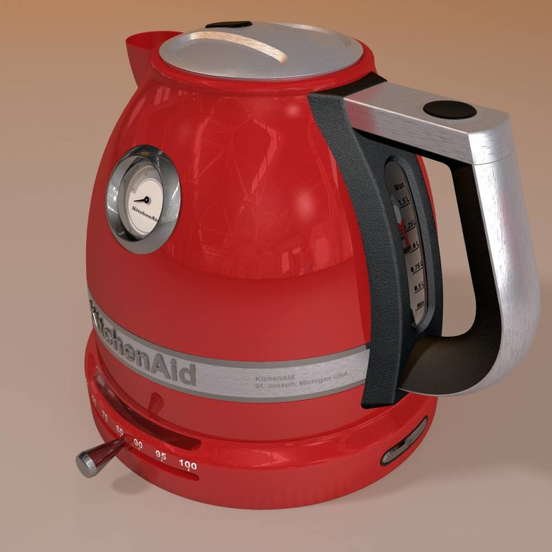 modelled kettle 3d 3ds