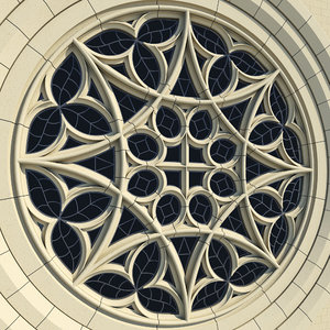gothic rose window collegiate 3d 3ds