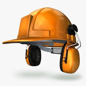 3d model firm hard hat