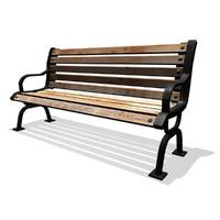 Iron Park Bench
