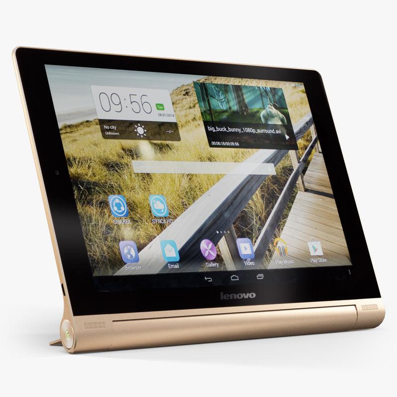 3d model lenovo yoga tablet 10