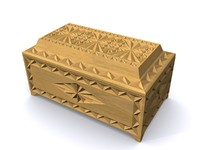 carved casket