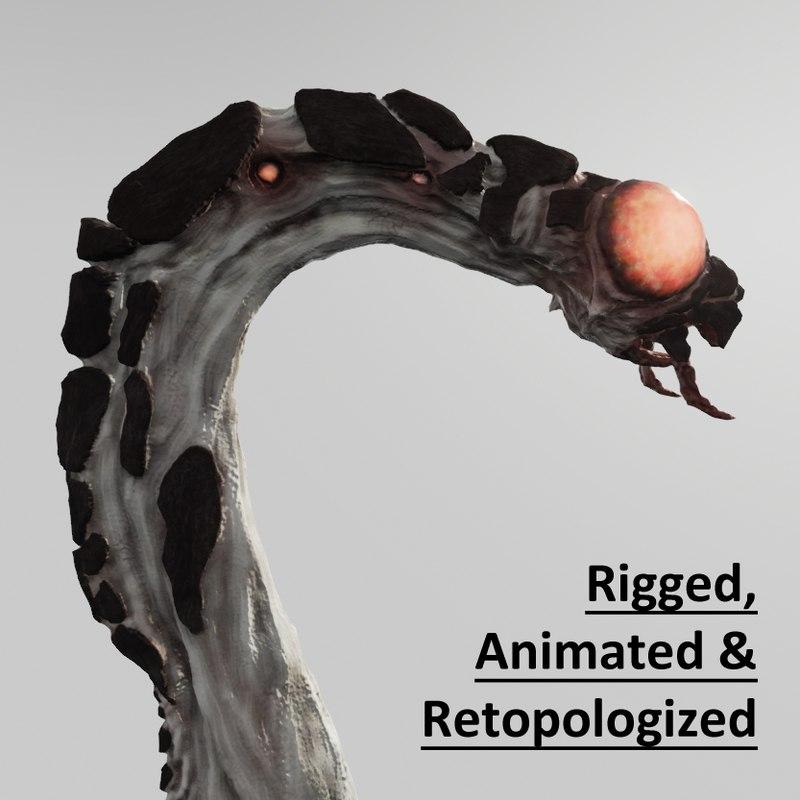 3d model insect alien