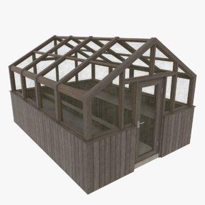 3d wood greenhouse