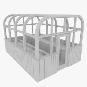 wood greenhouse 3d model
