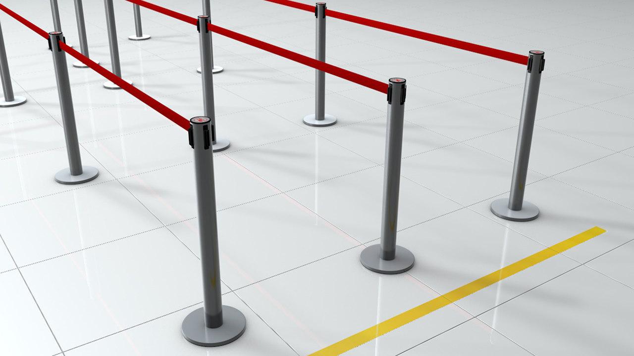 c4d barrier pole
