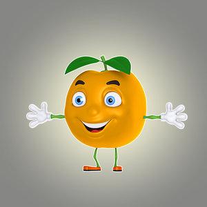 cartoon mandarin 3d model