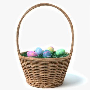 3d easter basket model