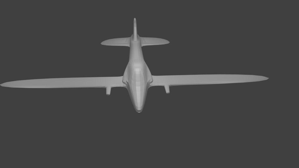 3d low-poly plane arcade