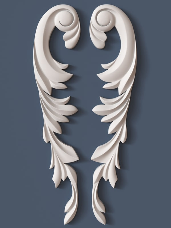 3d Scroll Of Parchment Photo: 3d Model Decorative Scroll