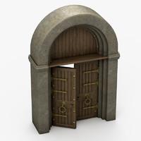 castle gate 3d model