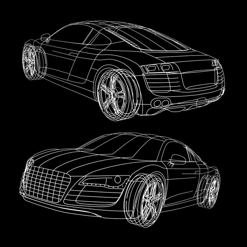 3d model of car spline