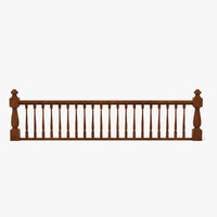 wooden railings 3d model