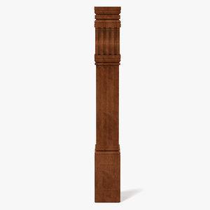 3d model wooden column