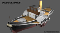 paddle steamer 3d model