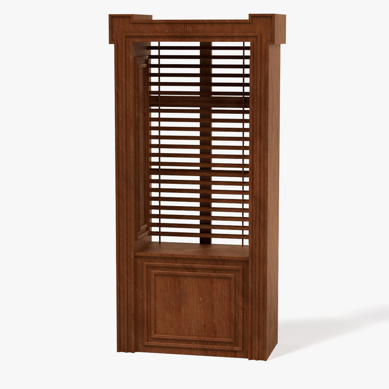 3d model wooden window