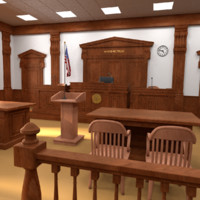 3d court room courtroom model