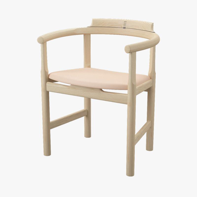 pp 52 chair hans j 3d model