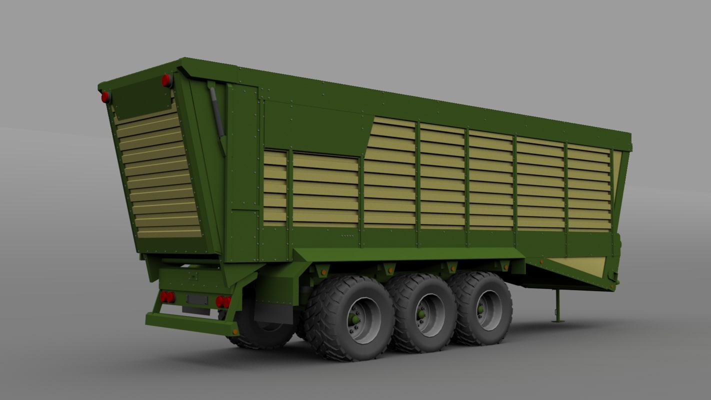 3d model trailer