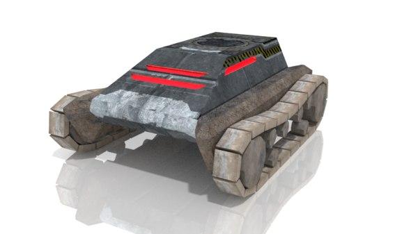 vehicle track 3d model