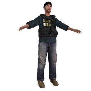 3d dea agent model