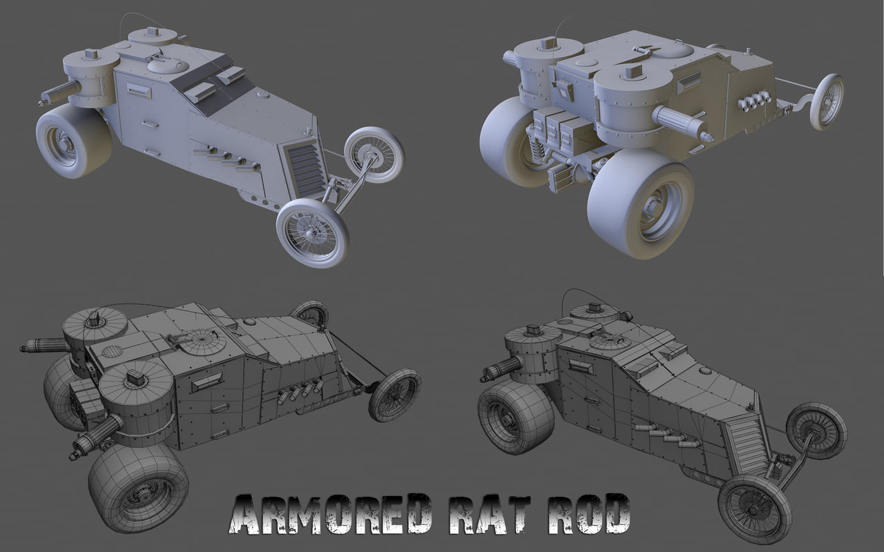 3dsmax armored car