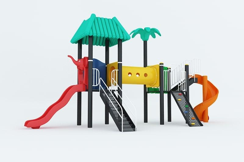 kids playground 3d max