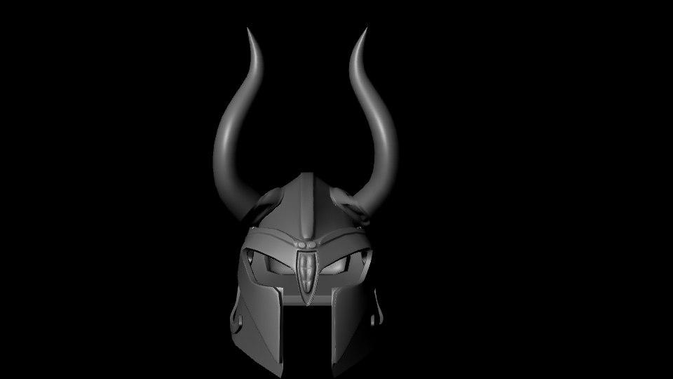 3d model iron helm
