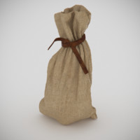 3d sack tied leather model